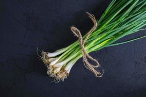 manojo de cebolla verde fresca