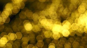 Abstract gold bokeh light