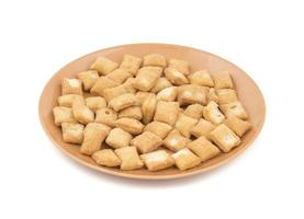 A plate of shakkarpara