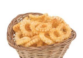Basket of round ring snacks