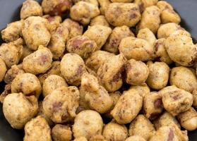 Close-up of masala peanuts
