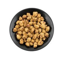 Top view of masala peanuts
