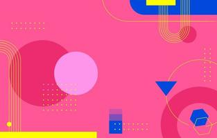 Flat Shape Pink Abstract vector