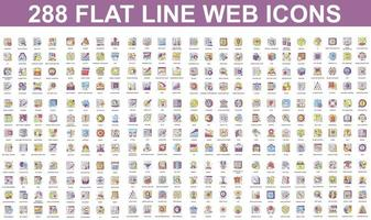 Bundle of flat line icons of different concepts vector