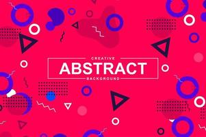 Abstract design with geometric shapes in memphis style vector