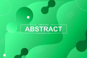 Abstract design with dynamic green liquid shapes vector