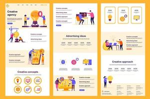 Creative agency flat landing page