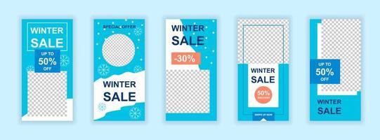 Christmas sale editable social media templates set