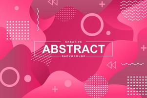 Abstract design with pink liquid gradient shapes