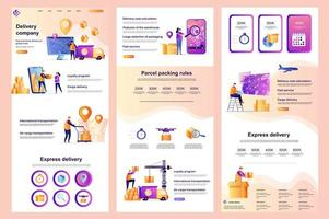Delivery company flat landing page