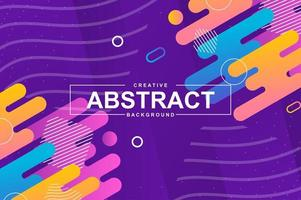 Abstract design with dynamic shapes in memphis style vector
