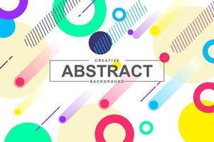 diseño artístico único con formas geométricas en estilo memphis vector