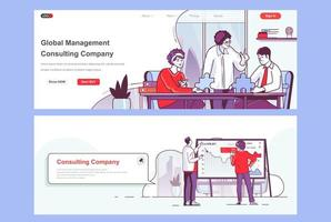 Consulting company landing pages set