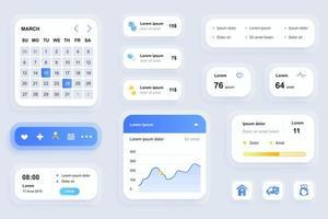 GUI elements for medicine mobile app vector