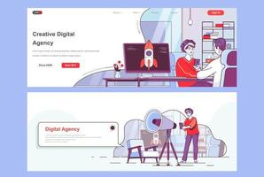 Creative agency landing pages set