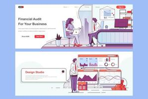 Financial audit landing pages set