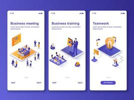 Business meeting isometric GUI design kit