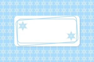 Blue and white snowflake frame and pattern