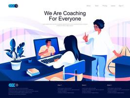 We are Coaching for everyone landing page vector