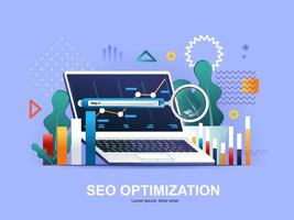 SEO optimization flat concept with gradients
