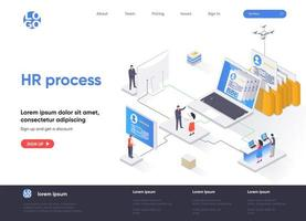 HR process isometric landing page