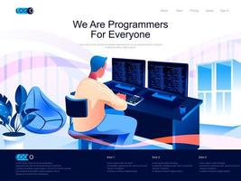 We are Programmers for everyone landing page vector