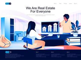 We are Real Estate for everyone landing page vector