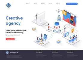 Creative agency isometric landing page