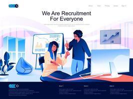 somos página de destino de reclutamiento para todos