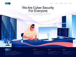 somos seguridad cibernética para todos la página de destino vector