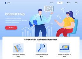 Consulting flat landing page