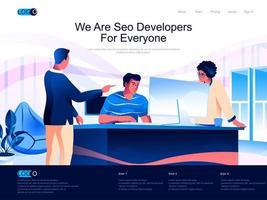 somos desarrolladores de SEO para todos la página de destino vector