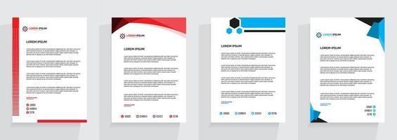 Corporate Letterhead Template Bundle vector