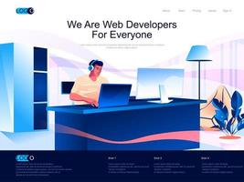 We are Web Developers for everyone landing page vector
