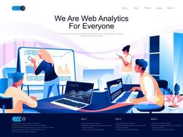 We are Web Analytics for everyone landing page vector