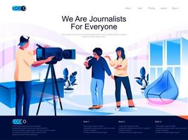 We are Journalists for everyone landing page vector