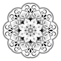 Unique petal flower mandala design vector