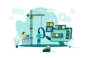 Software testing concept in flat style vector