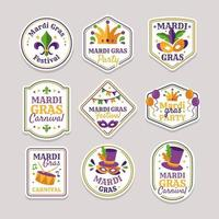 Mardi Gras Theme Stickers vector