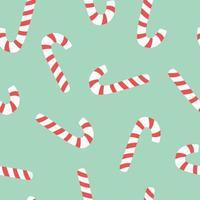 patrón transparente de vacaciones de bastón de caramelo. vector