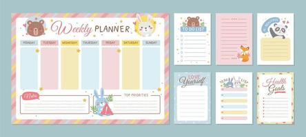 Cute Journal Template with Animal Theme vector
