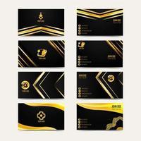 Set of elegant business card vector