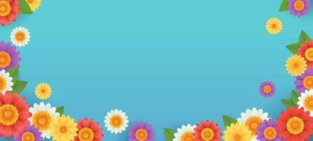 Colorful Flower Background Banner vector