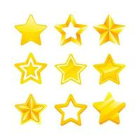 Various Gold Stars Icon vector