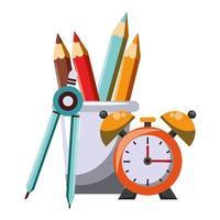 Cartoon school materials vector