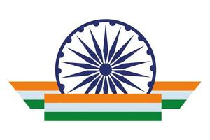 Ashoka chakra symbol icon cartoon vector