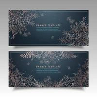 Hand Drawn Flower Banner Templates
