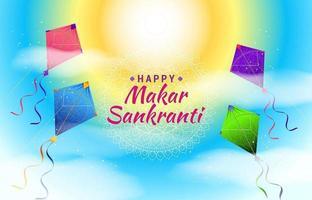 Happy Makar Sankranti Kites Background Concept