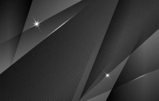 fondo negro abstracto con acento de semitono vector
