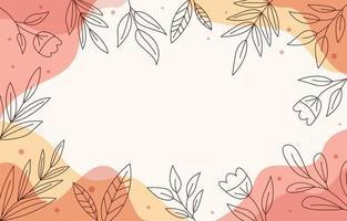 fondo floral abstracto vector